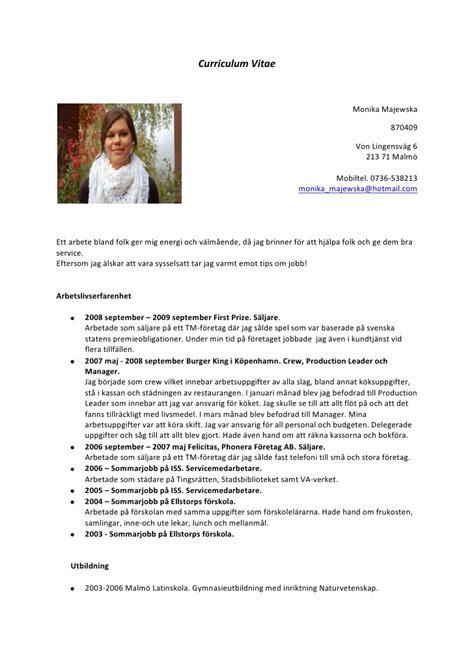 cv design svenska curriculum vitae