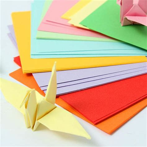 Coloured Paper Doyleys 55 100pcs 100pcs 10x10cm origami papel cuadrado doble cara colores