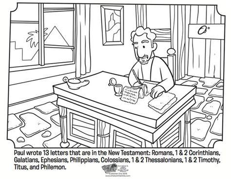 paul s letters coloring page whatsinthebible com bible