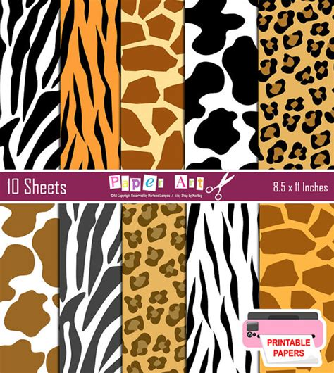 free printable zebra print paper instant download printable wild animal print