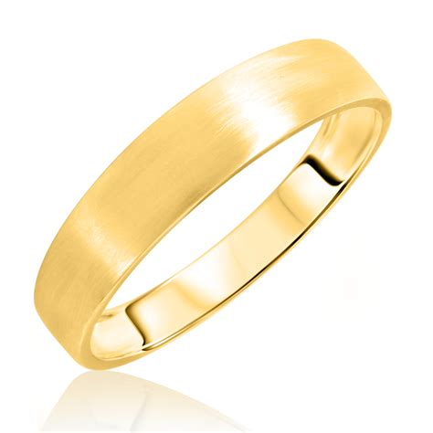 no diamondsmen s wedding band 14k yellow gold my trio