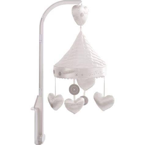 Handmade Cot Mobile - silver cross handmade with luxury musical cot mobile
