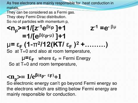 How Can Formula Sit At Room Temp by Thermal And Electrical Conductivity Of Metals