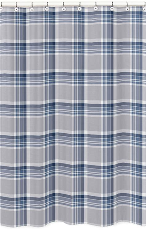 Kemeja Flanel Tartan Navy Grey sweet jojo designs shower curtain for the navy blue and gray plaid collection by