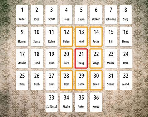 lenormand karten deutung große tafel deutungsstr 228 nge in der gro 223 en tafel grundlagen des