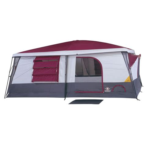 Cabin Dome Tent by Wenger 174 Lucerne Ii Cabin Dome Tent Gray Cranberry