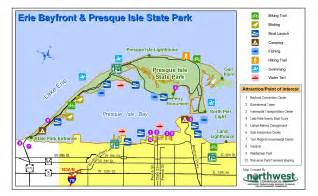 Presque Isle State Park Map by Erie Maps World Junior Pool Erie
