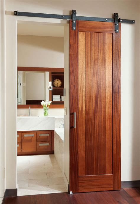 Interior Bathroom Doors by Rustic Style Barn Door Modern Industrial