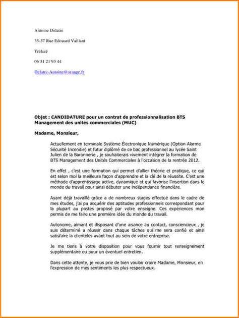 Lettre De Motivation Pour Apprentissage Bts Banque 8 Lettre De Motivation Stage Bts Nrc Faireune Lettre