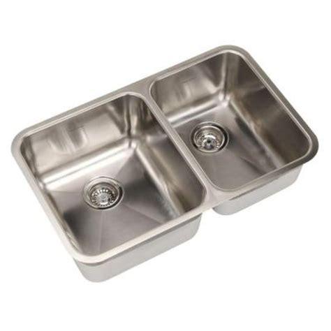 American Standard Undermount Kitchen Sinks American Standard Prevoir Undermount Brushed Stainless Steel 29 875x18 75x9 0 Bowl