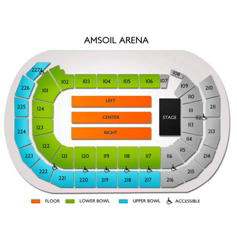 amsoil arena seating map amsoil arena tickets amsoil arena information amsoil