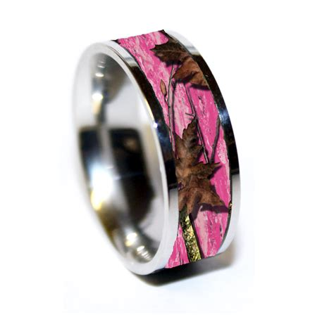 camo wedding ring pink camo camouflage wedding rings camo rings 1 camo ring