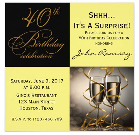 exles of 40th birthday invitations 40th invitation template free orderecigsjuice info