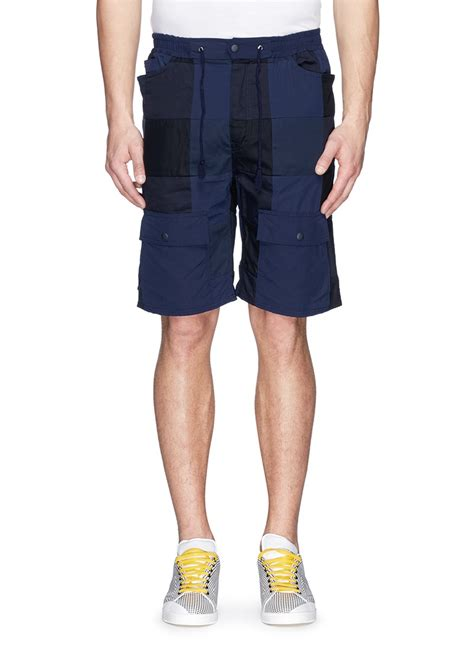 Patchwork Shorts - white mountaineering patchwork cotton tencel cargo shorts