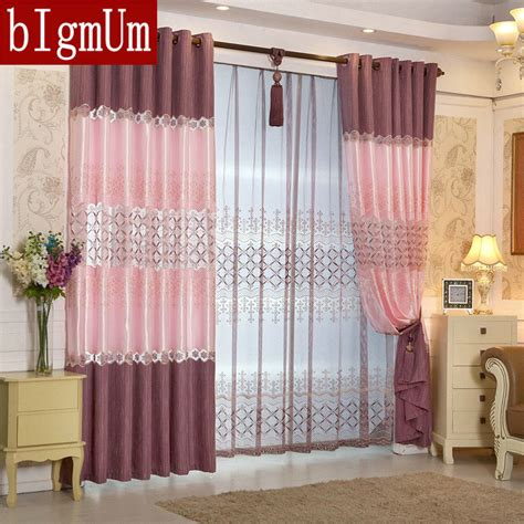 purple voile curtains ready made ready made window european luxury embroidered voile