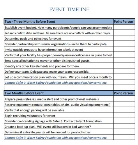 28 day of event timeline template event timeline 9 free