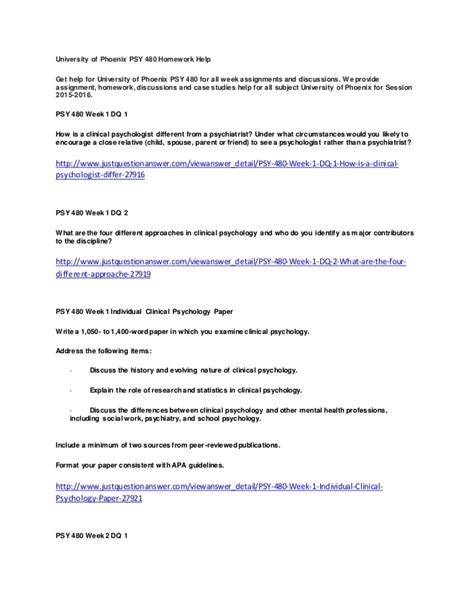 apa format university of phoenix university of phoenix psy 480 homework help