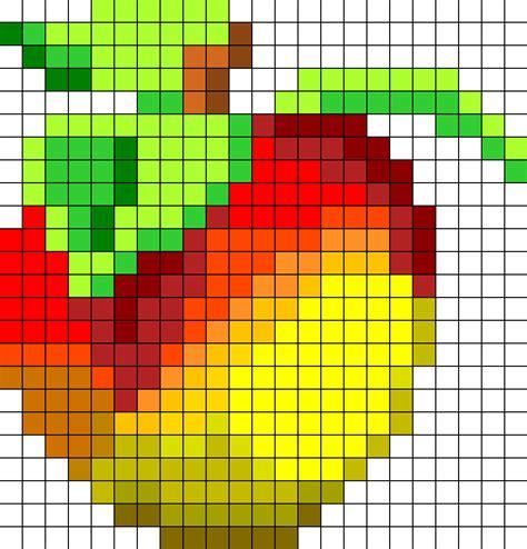 fruit pattern png crash bandicoot wumpa fruit perler bead pattern bead