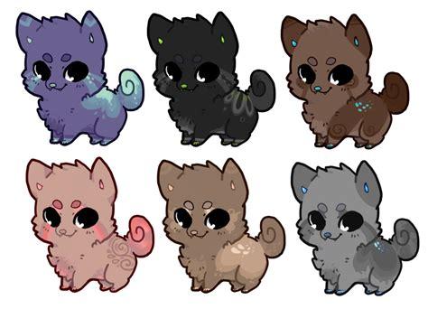 chibi puppy chibi adoptables 4 open by iexie on deviantart