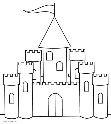 coloring pages castle simple castle coloring pages www pixshark images