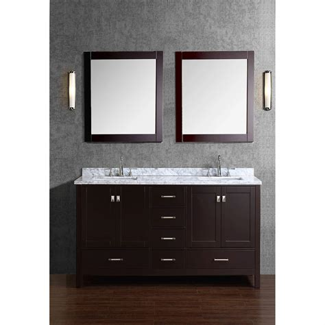 real wood bathroom vanity buy vnicent 60 quot solid wood double bathroom vanity in
