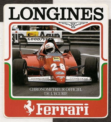 Ferrari C126 1983 longines ferrari c126 f1 rene arnoux gp original