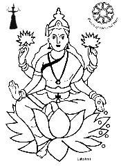 maha lakshmi drawing colouring pages