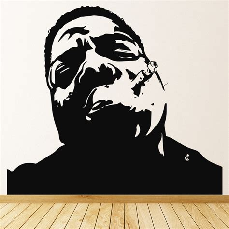home decor stickers wall notorious big wall sticker rap wall decal icon