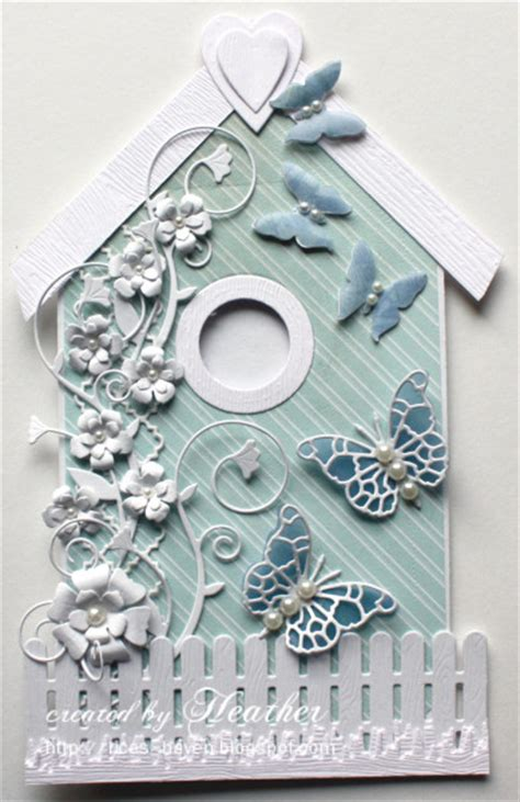 Shaped Handmade Cards - bird house by rica cards and paper crafts at