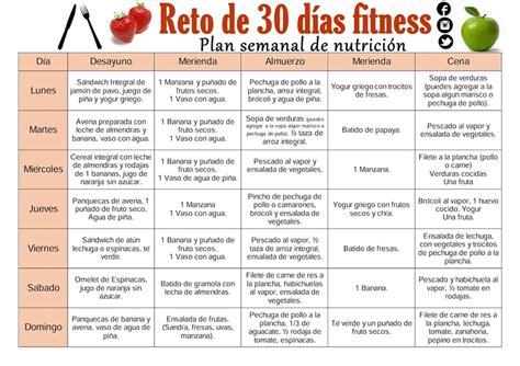 Calendario De Peso Plan Nutricional Para Bajar De Peso Primera Semana