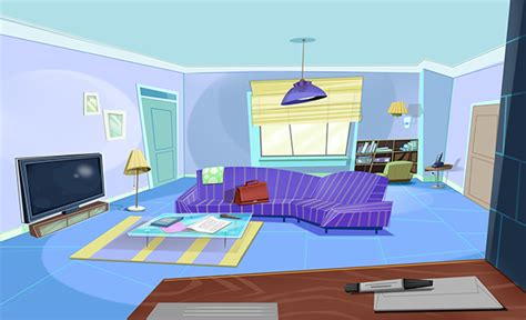 Interior Design Animation by Living Room On Wacom Gallery