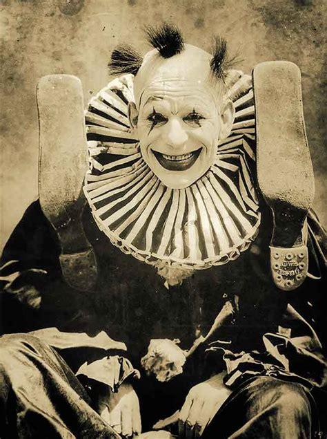 creepy scary clown photo vintage circus photo weird strange