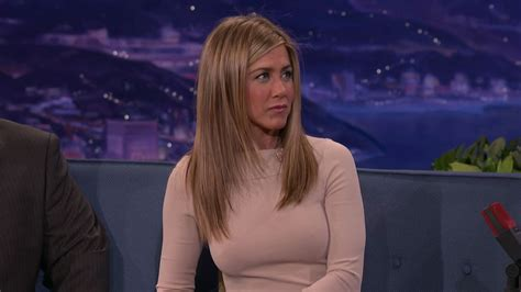 Sweater Conan aniston wearing a tight sweater with pokies
