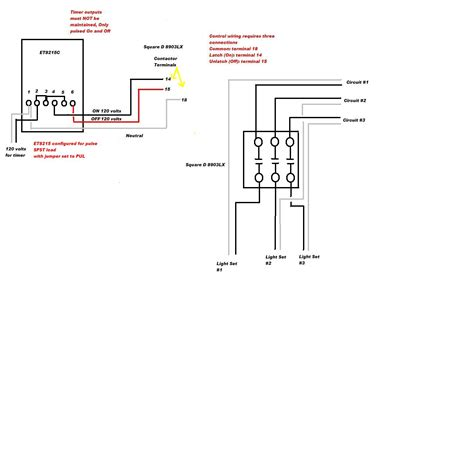 contactor wiring diagram square d lighting contactor wiring diagram 8903 square d
