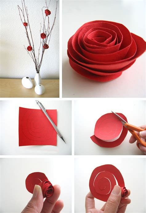 craft paper flowers roses paper flower tutorial