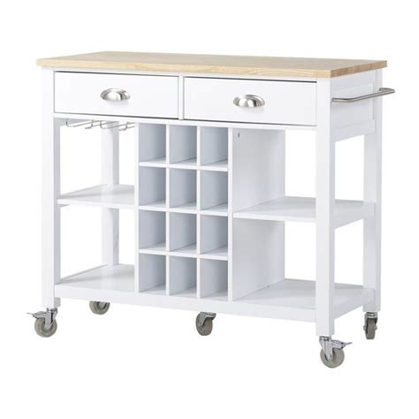 white kitchen island cart wide kitchen island cart in white zh1411891w