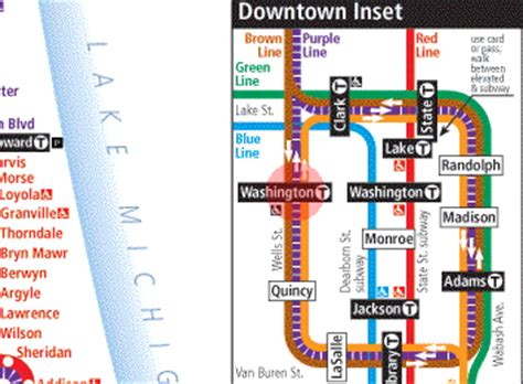 orange line map chicago washington station map chicago cta l