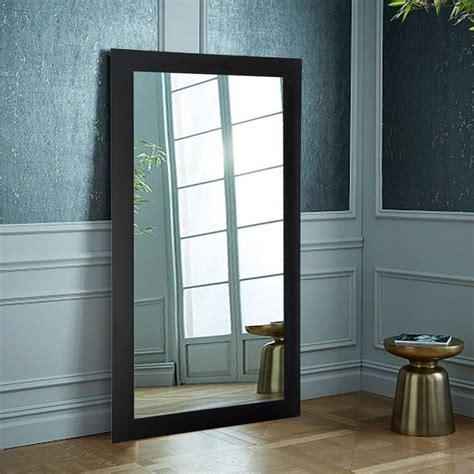 designer black      tall mirror avtall
