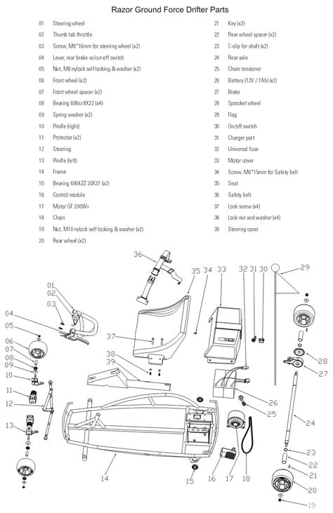 dirt bike razor mx350 battery wiring diagram