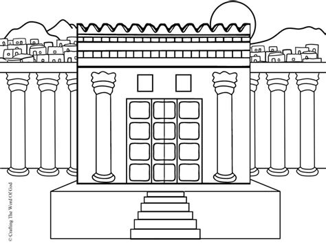 coloring page of king solomon s temple rebuilding the temple 171 crafting the word of god
