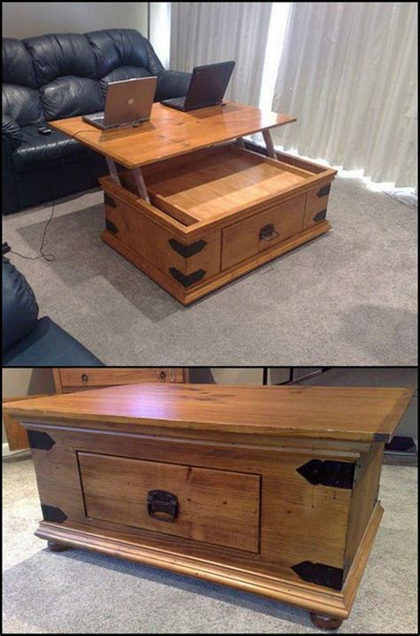Eat At Coffee Table How To Build A Diy Lift Top Coffee Table Http Diyprojects Ideas2live4 Udcm If You Ve