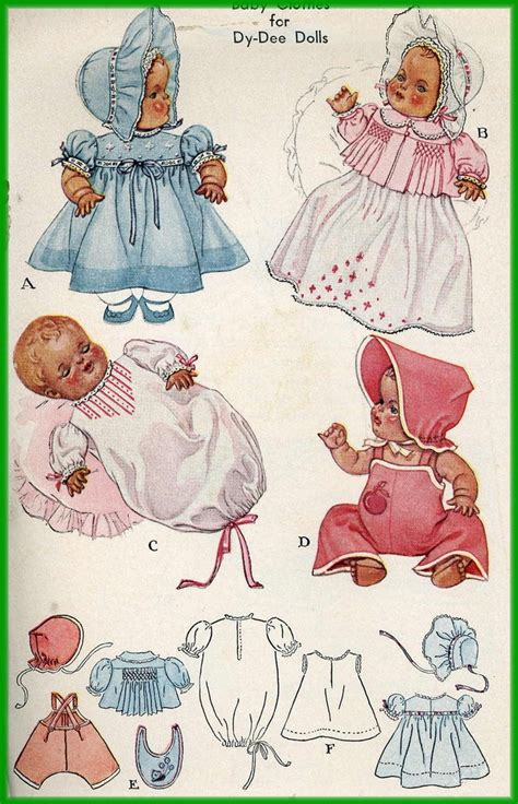 1940s doll clothes pattern for 20 inch dy doll by
