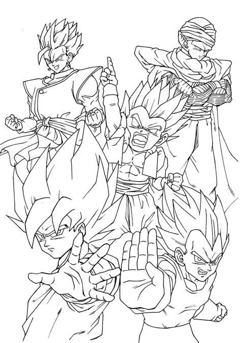 Dragon Ball Z Goku Super Saiyan 4 Coloring Pages Az Z Coloring Pages Goku Saiyan 5