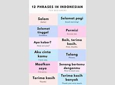 Essential Indonesian Phrases for Travel in Bali ... Words With Friends Cheat List