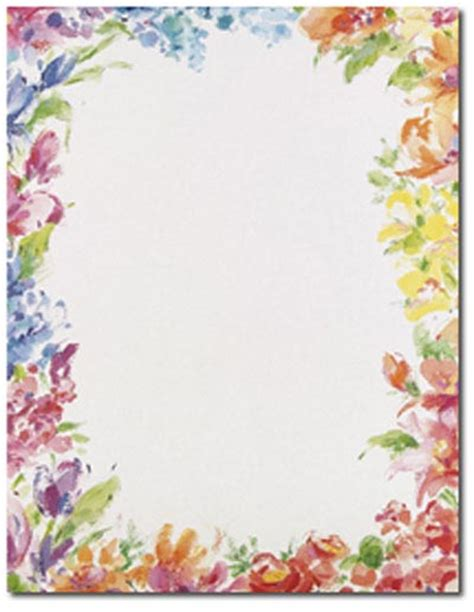 printable paper with flower border floral border paper printables pinterest floral