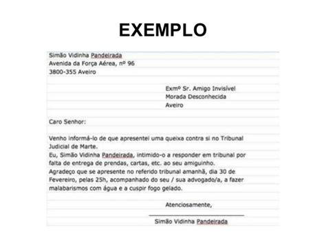 carta formal em portugues de portugal modelo de carta formal e informal exemplos