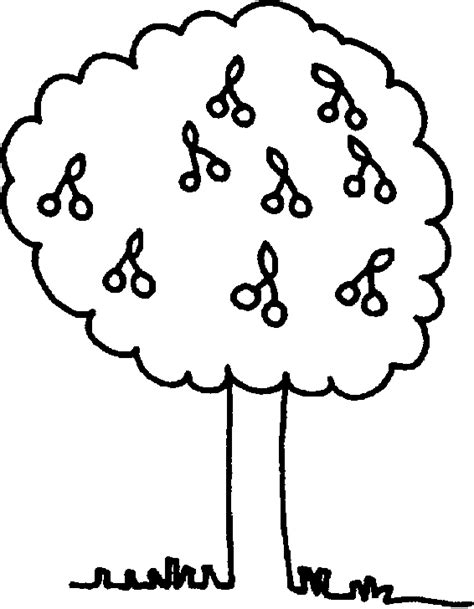 coloring page of a cherry tree cherry tree coloring pages