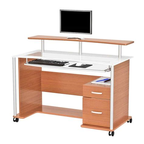 z line computer desk z line designs maven computer desk with hutch light cherry