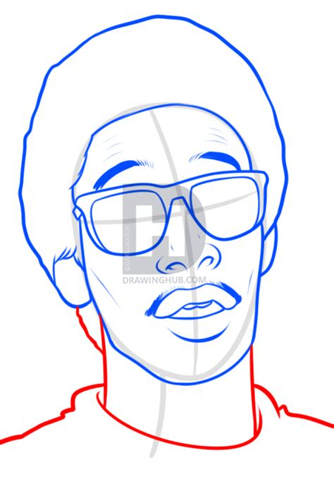 drawing easy draw wiz khalifa easy step by step drawing guide by