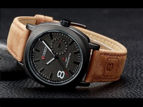 Best Seller Jam Tangan Pasangan Montblanc Leather Simple the simple curren from aliexpress unboxing